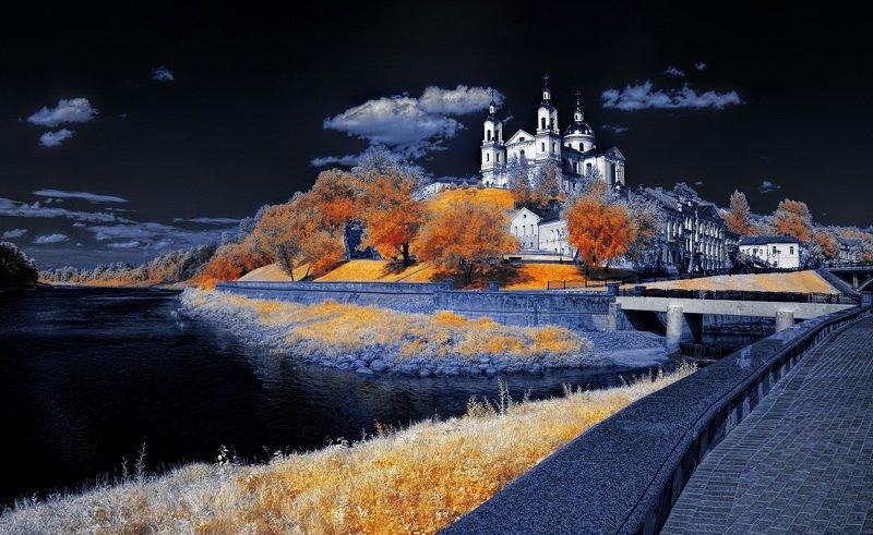 infrared,ик-фото,инфракрасное фото, инфракрасная фотография, пейзаж, лето Медленное время.photo preview