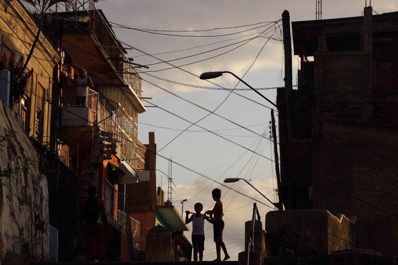 Гавана, Сантьяго, Сантьяго де Куба, силуэт, тень, Куба, улица ***photo preview