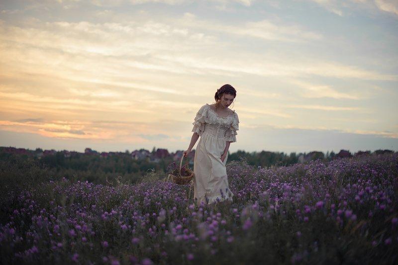 девушка, лето, романтика, платье, природа, цветы Аннаphoto preview