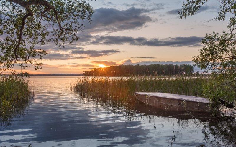 минск, беларусь, лето, вечер, озеро, закат Летний вечерphoto preview