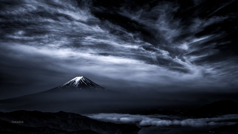 Fuji,Japan,mountain,clouds,spring,snow,lake Bewitching Springphoto preview