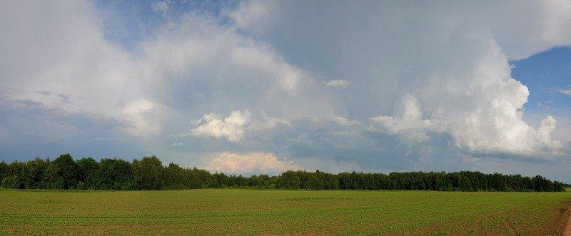 небо облака поле Летоphoto preview