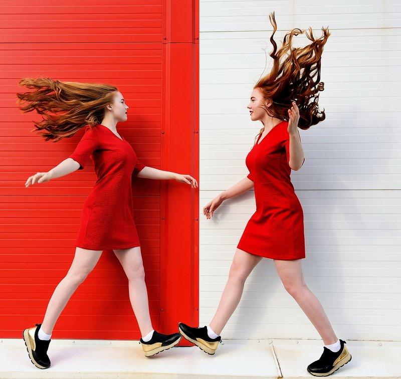девушка,цвет,портрет COLOR...RED... \