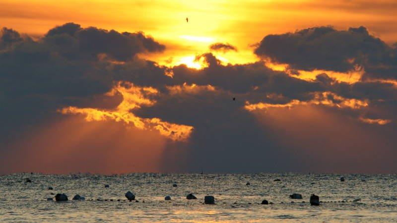 south korea,gyeongsangbukdo,ulsan,sunrise,winter,sea,seascape,horizontal,sunlight,cloud,waves,colorful,dramatic Sunrise in the cloudsphoto preview