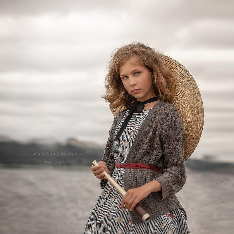 девушка, портрет, детская, фотография, дети, арт,   Путешественницаphoto preview