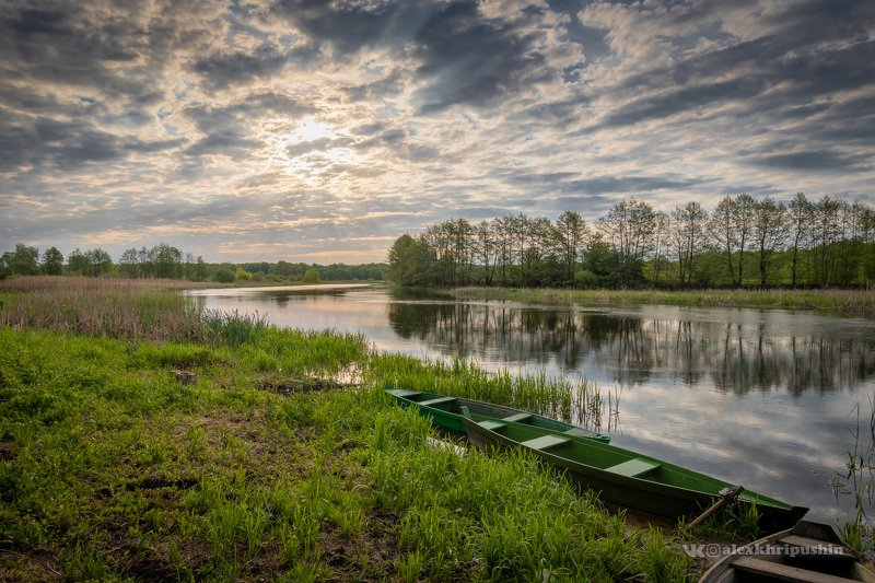 landscape Morning on the bank of Voronezh riverphoto preview