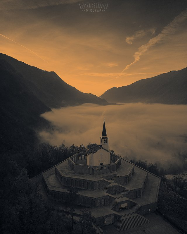 slovenia, mist, autumn, sunrise, fog Скоро рассвет...photo preview