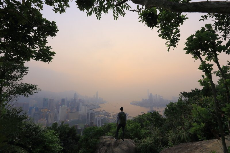 гонконг, закат ***photo preview