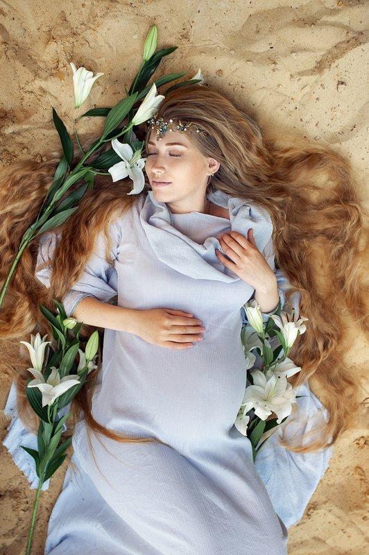 девушка, беременность, эльф, природа, портрет, красота Эльфийка Ольгаphoto preview