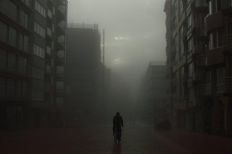 туман, смог, город, улица ***photo preview