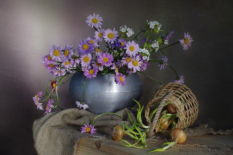 натюрморт,цветы,лето,вера павлухина, Дачный натюрмортphoto preview