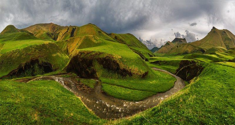 природа, пейзаж, горы, кавказ, природа россии, дикая природа, закат, свет, облака, вечер, весна, ***photo preview