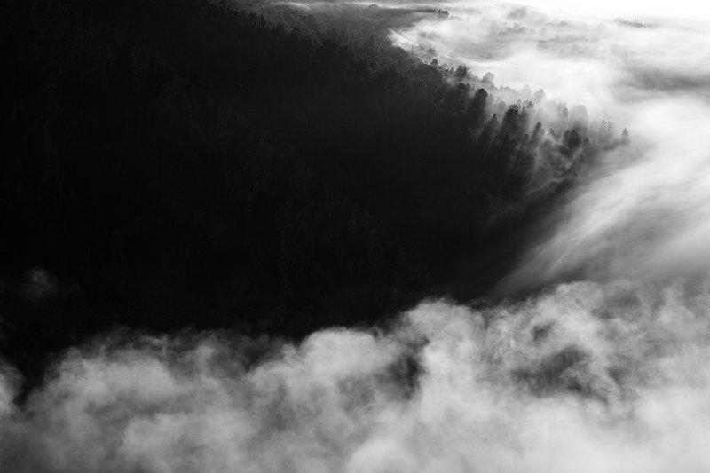 Облака, горы, Айгир, Урал В облакахphoto preview