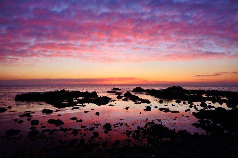 south korea, gyeongsangbukdo,sunrise,dawn,sea,seascape,horizontal,sunlight,clouds,rocky, island, silhouette, Fantastic cloudsphoto preview