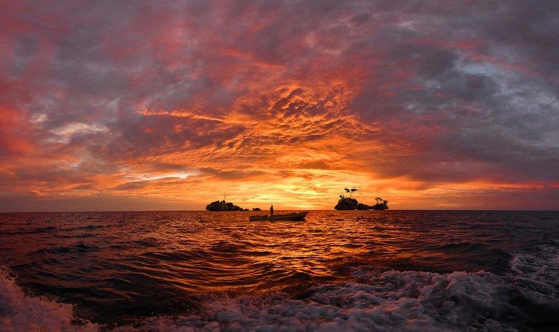 Закат на Тогеанских островах.photo preview