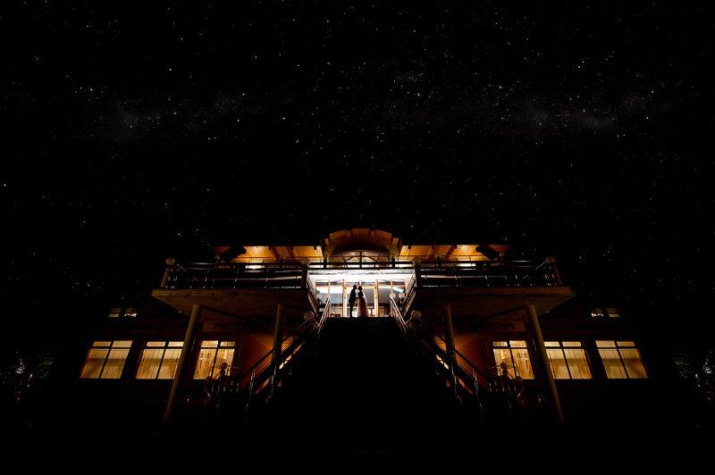 звездная ночь, силуэты, ночная фотография Любовь больше вселенной.photo preview