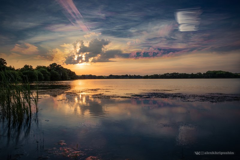 paintedsky Sunset over the lakephoto preview