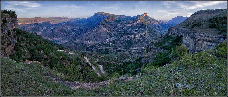 дагестан, гуниб, утро, панорама Гуниб на рассветеphoto preview