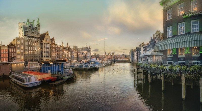 городской пейзаж,каналы,canals,evening,architecture,северная венеция,loves_netherlands,amsterdam,canalhouses,netherlands,нидерланды,голландия , вечерний город Welcome to Amsterdam...photo preview