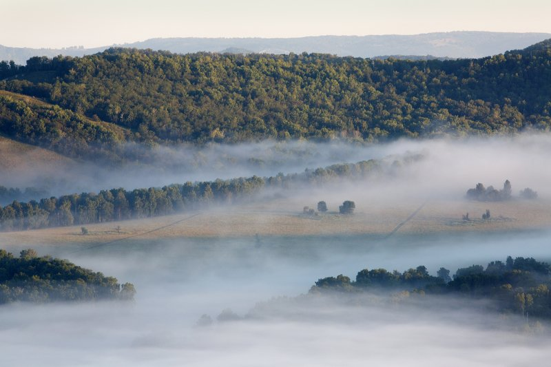 пейзаж, природа, утро, туман, Урал, Россия Утро в долинеphoto preview