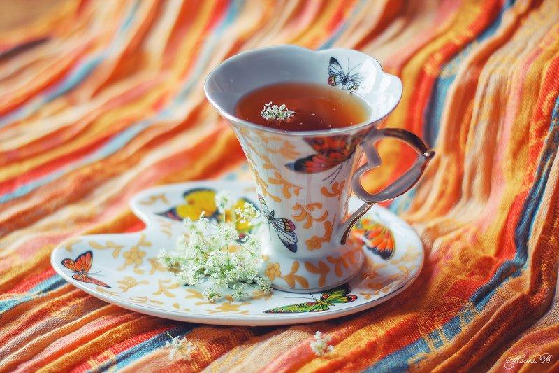 чай, чашка, цветы, лето Чай со вкусом летаphoto preview