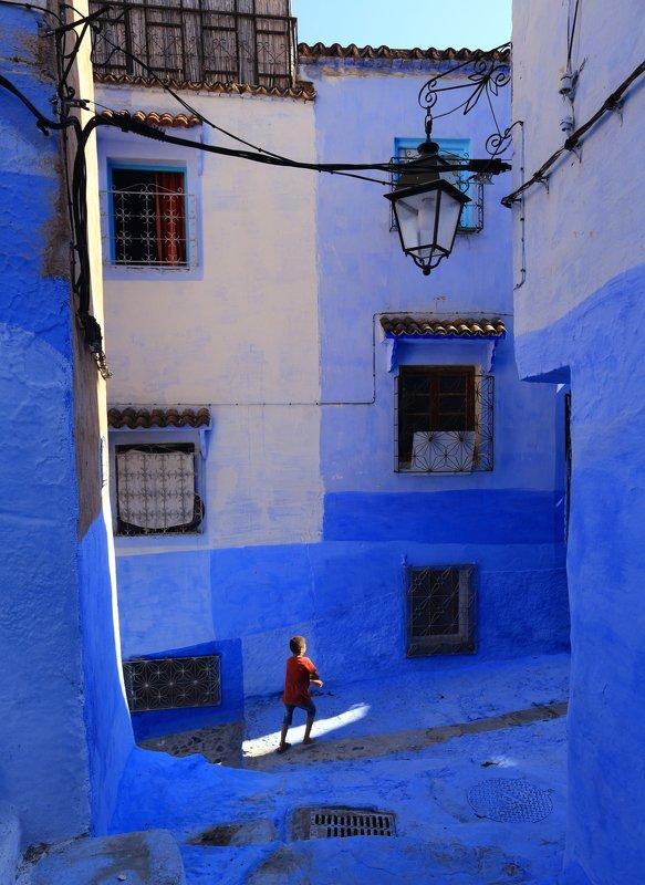 Голубой городphoto preview
