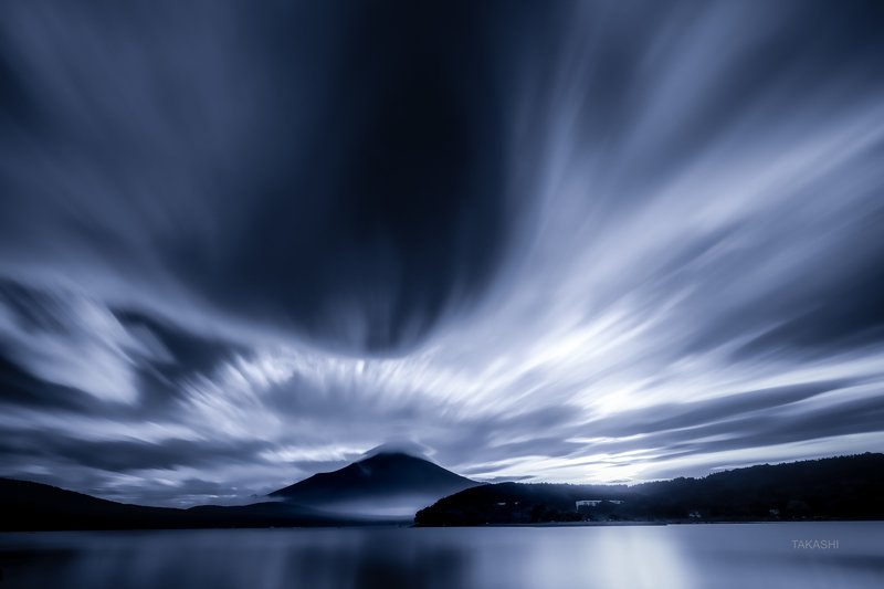 Fuji,Japan,mountain,lake,water,clouds,explotion,burst Cloud burstphoto preview