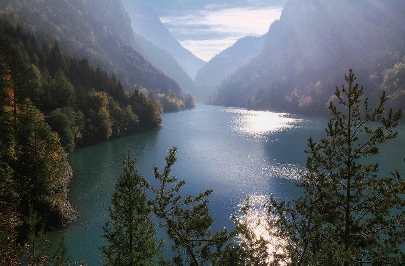 швейцария, альпы, горы Вечер в Альпахphoto preview