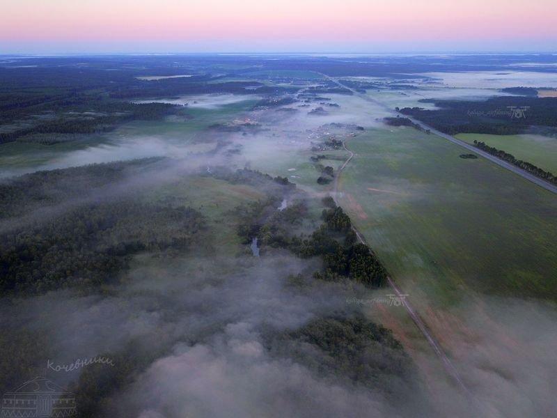 аэросъемка, мавик про, аэро, квадрокоптер, туманный рассвет, туман, рассвет Пять минут до рассветаphoto preview