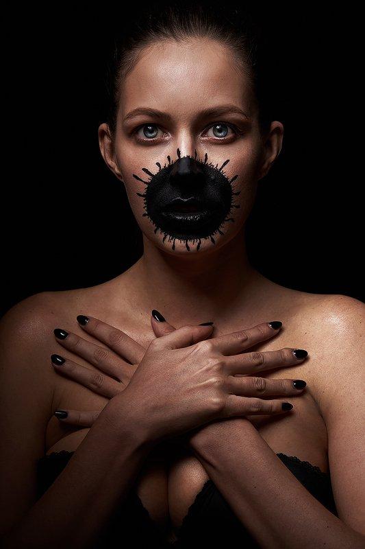 девушка, ковид, концептуальн, вирус, сексуальная, красивая, модель, черный, концепт Светаphoto preview