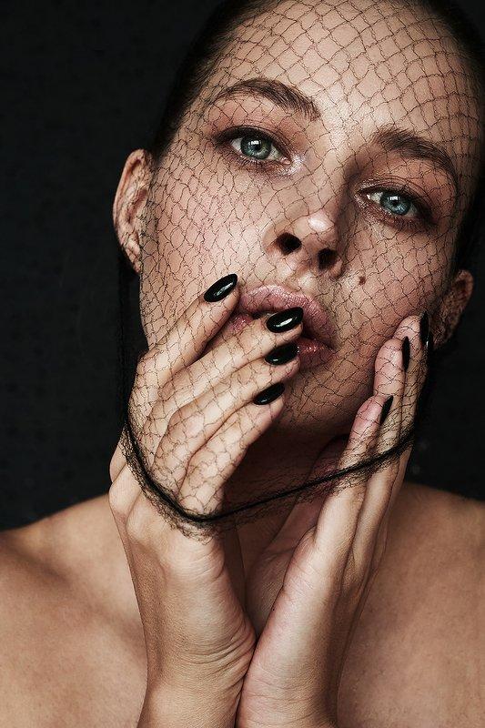 девушка, концептуально, сети,  сексуальная, красивая, модель, черный, концепт Светаphoto preview