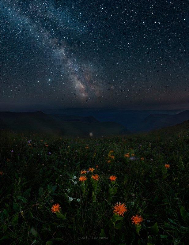 шаджатмаз, ночь, млечныйпуть, звезды, кмв, кавказ, ессентуки Млечный путь на плато Шаджатмазphoto preview