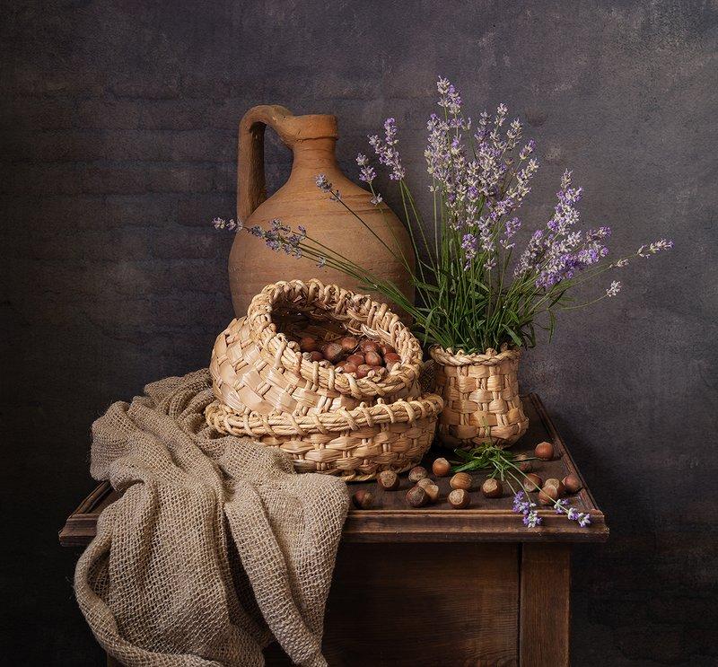 натюрморт, цветы С лавандойphoto preview
