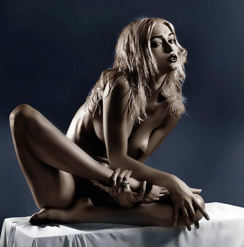 erotic, girl, nude, боди-арт, девушка, модель, ню, обнаженная, эротика, photosession, nudeart ПОЛУ-ЛОТОСphoto preview