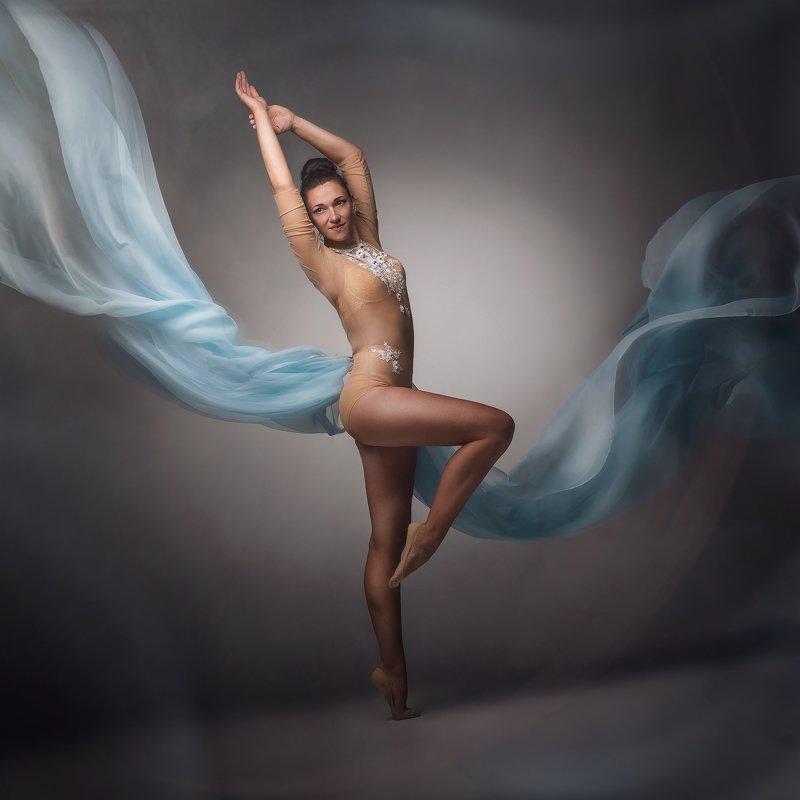 танец, модель, ткань photo preview