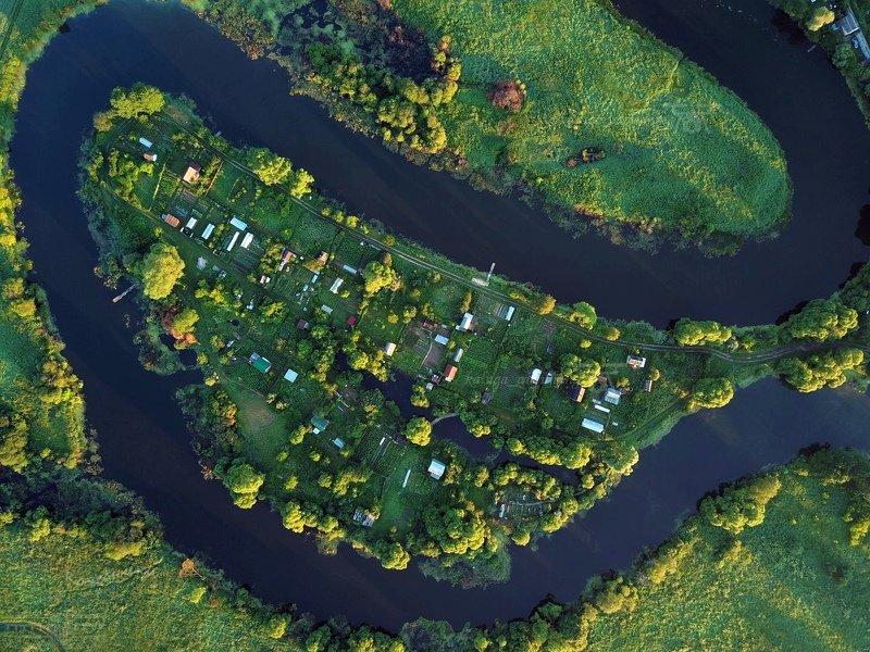 аэросъёмка,мавик про,dji mavic pro, калужская область, река, airphoto Полуостровphoto preview