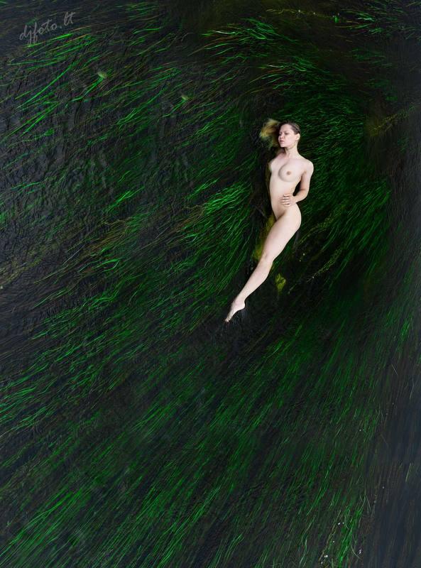 djfoto, water, nude, Vilnius,  Midsummer sadnessphoto preview