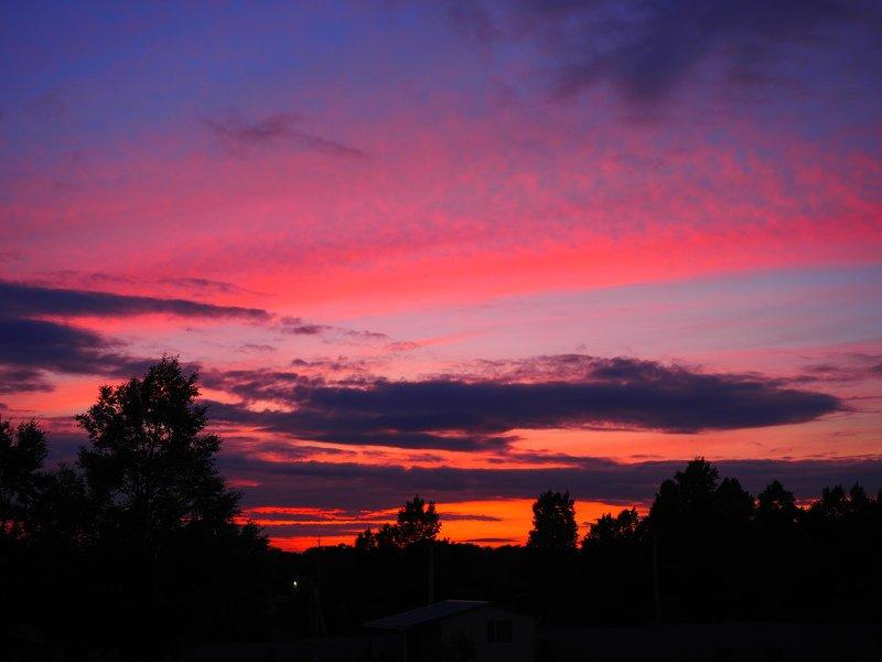 закат, Владивосток, Россия, Родина о красивом небеphoto preview