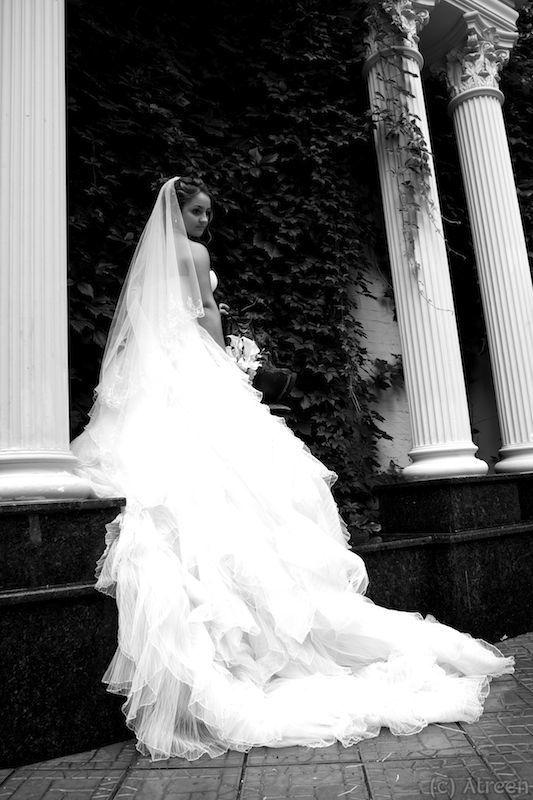 Девушка, Колонны, Платье, Портрет, Свадебное Анастасияphoto preview