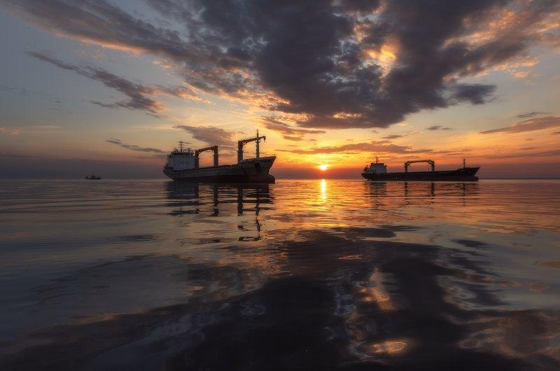 Закат. Финский залив. Закаты Финского залива.photo preview