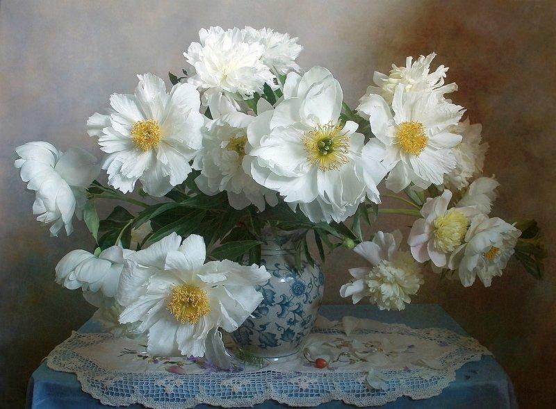 весна, натюрморт, букет цветов, пионы, марина филатова Пионов нежная прохлада в лепестках летящей красотыphoto preview