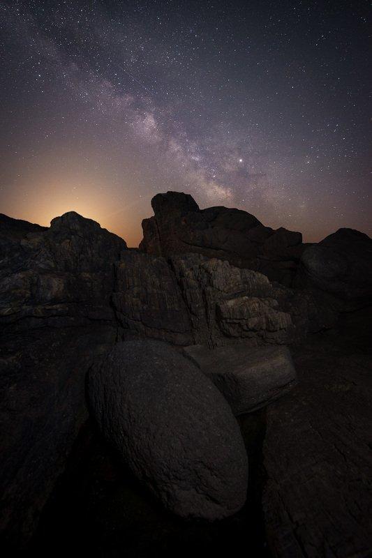 Black sea at Night photo preview