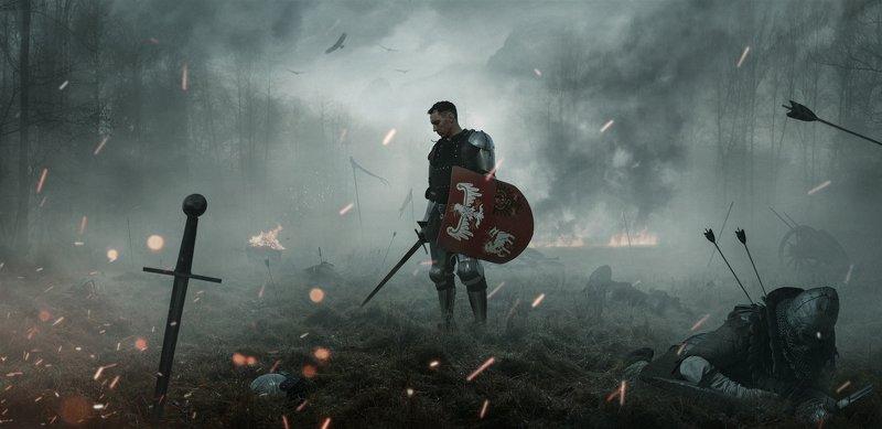 knight,fight,battle,battlefield,panoramic,moody,cinematic,war,man, Battlefieldphoto preview