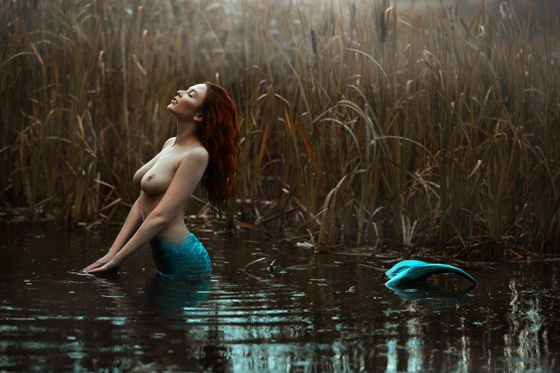 девушка, красавица, природа, русалка На озере в глубоких дебрях...photo preview