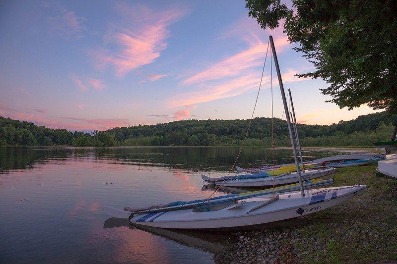 природа,лето,озеро,пейзаж,лодки,отражения,небо,лето,закат,вечер, Макушка летаphoto preview