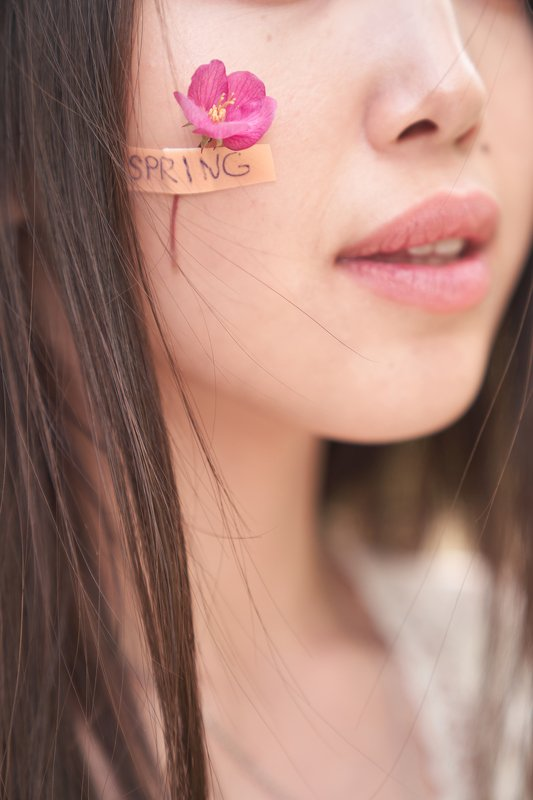 яблоня, весна, цветок, лейкопластырь, губы, розовый Веснаphoto preview