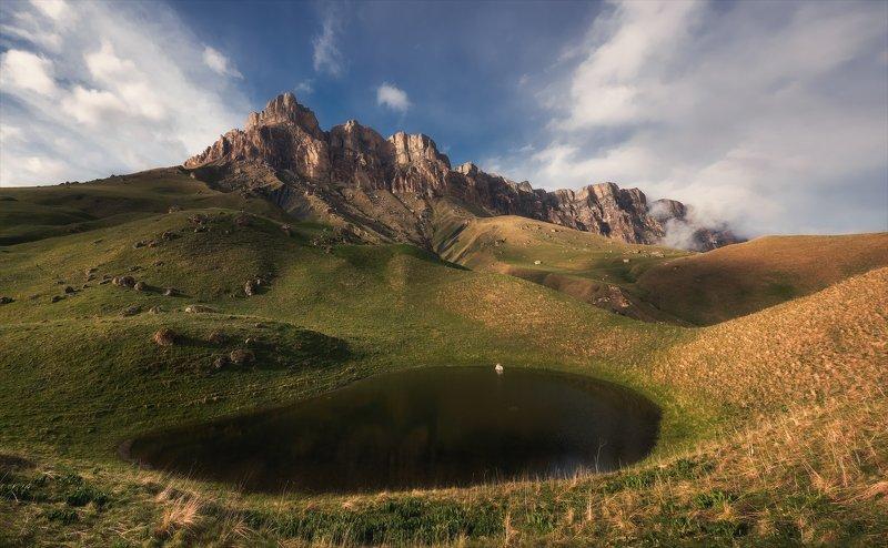 перевал, актопрак, северный_кавказ, озеро, кбр У затерянного озера.photo preview