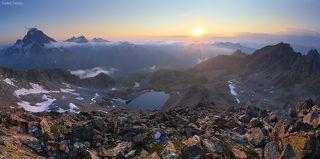 Закат с вершины Кёль-Баши