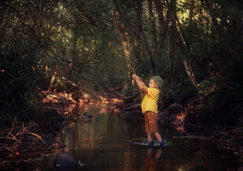 дети, рыбалка, лето, С папой на рыбалкеphoto preview