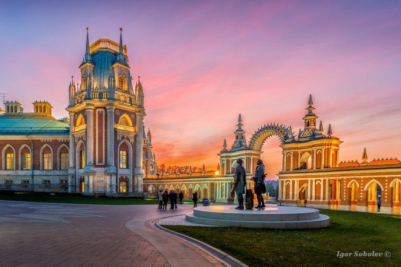 царицыно, москва, закат, вечер Теплый вечер в Царицыноphoto preview